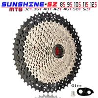 SUNSHINE MTB Cassette 8 9 10 11 12 Speed 32/36/40/42/46/50/52T Mountain Bicycle Freewheel Bike Sprocket For Shimano SRAM SUNRACE|Bicycle Freewheel| |  -