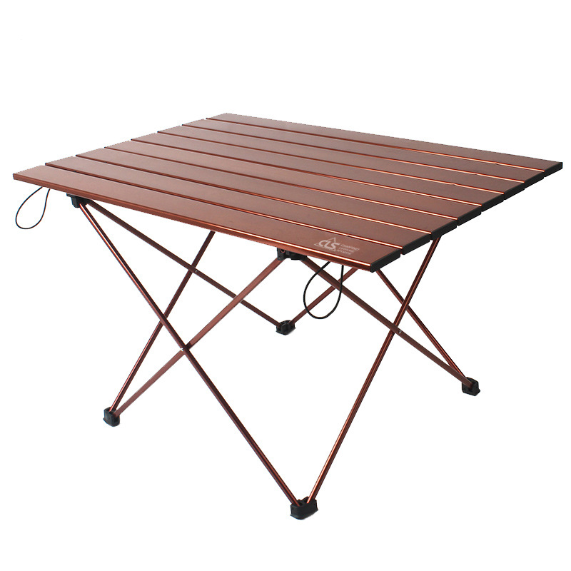 Big Outdoor Folding Table Aluminum Alloy Light Barbecue  Portable Picnic Recreational Self-driving Camping Plate 68x48x40cm