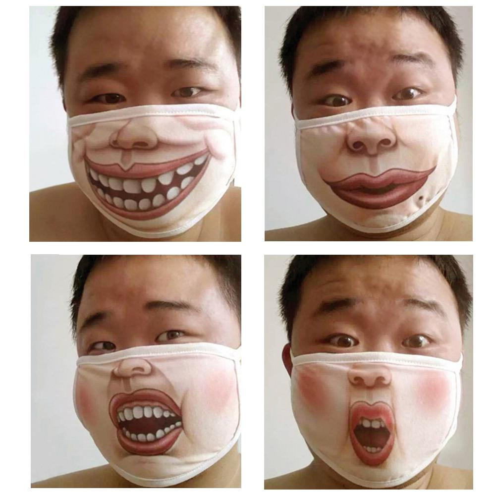 1PC Outdoor Cycling Adult Men Women Cotton Funny Mouth Face Mask Anti-Dust Warm Facial Protective Cover Masks Face Care Tool