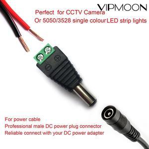 10 шт., 12 В, 5,5 мм х 2,1 мм, гнездовой разъем, адаптер питания постоянного тока для 5050 3528 5060, одноцветный светодиодный светильник, камеры видеонаб...
