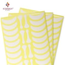 700 pairs Sotto Pad Occhio Ciglia Esercizi Occhio adesivi di Carta privo di Lanugine con forma di osso ciglia patch