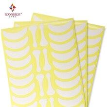 700 pares sob almofadas de olho cílios exercícios olho adesivos de papel sem fiapos com forma osso olho cílios remendo