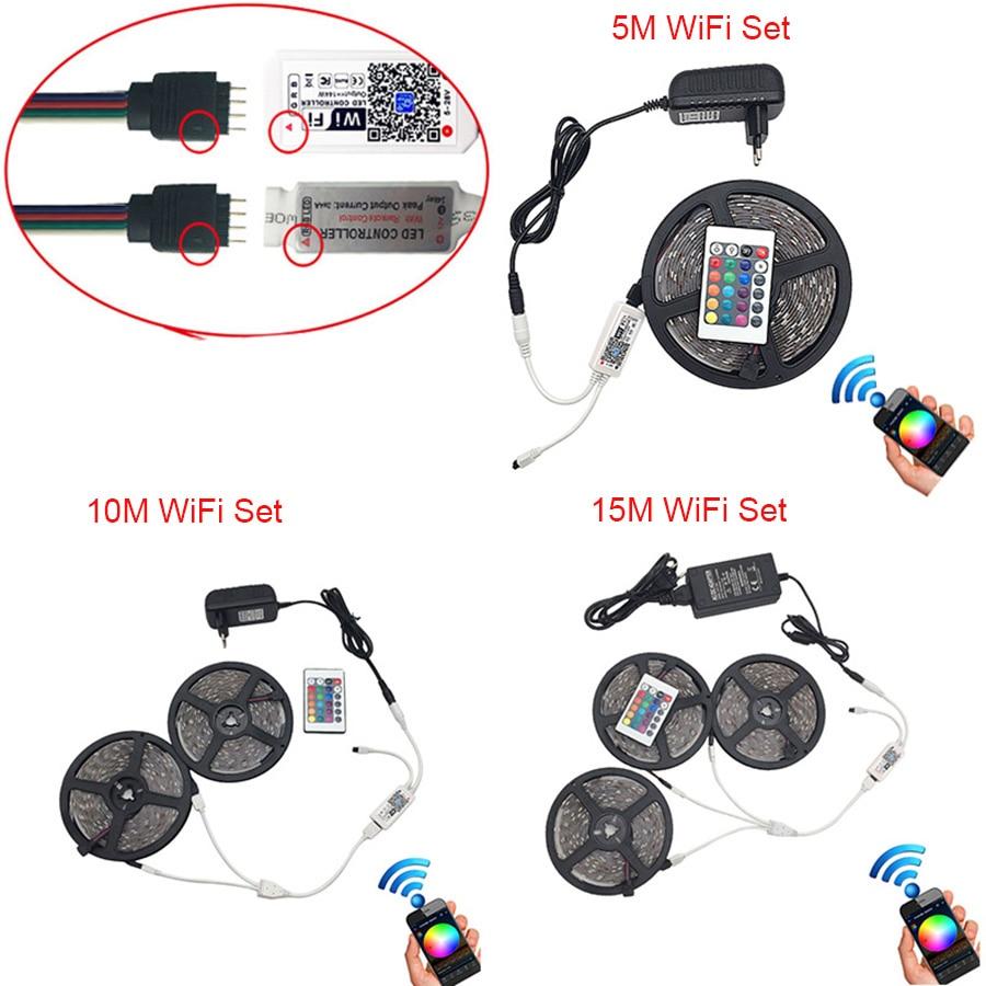 RGB-LED-Strip-5m-10m-15m-Waterproof-Led-Neon-Light-2835-5050-DC12V-30Leds-M-Flexible