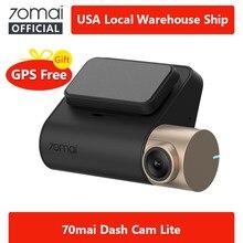 Nowa kamera na deskę rozdzielczą 70mai Lite 1080P współrzędne prędkości moduły GPS 70 MAI Lite wideorejestrator samochodowy 24H Monitor do parkowania 70mai Lite wideorejestrator samochodowy