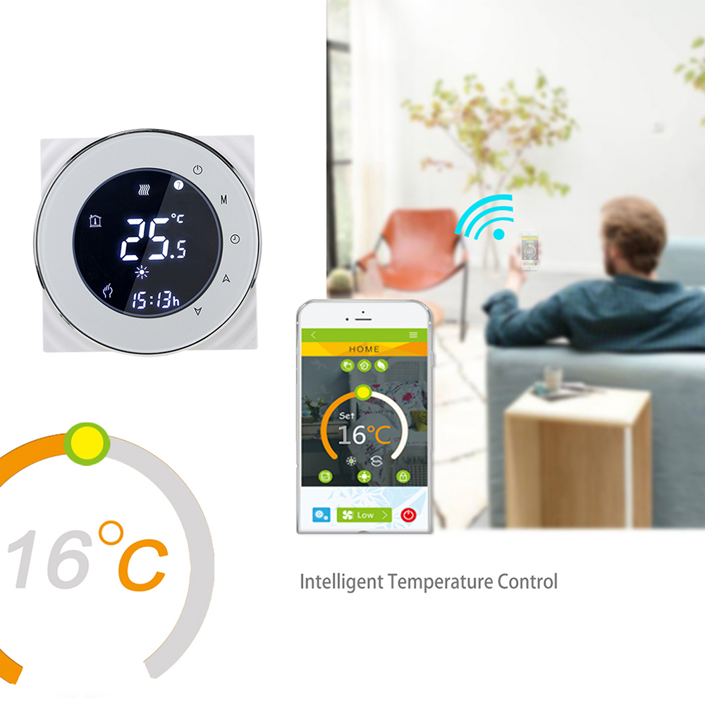 Thermostat Wifi/No Wifi/Modbus Water Heating Thermostat LCD Touch Screen Home /Hotel Winter Digital ABS Programmable Thermostat
