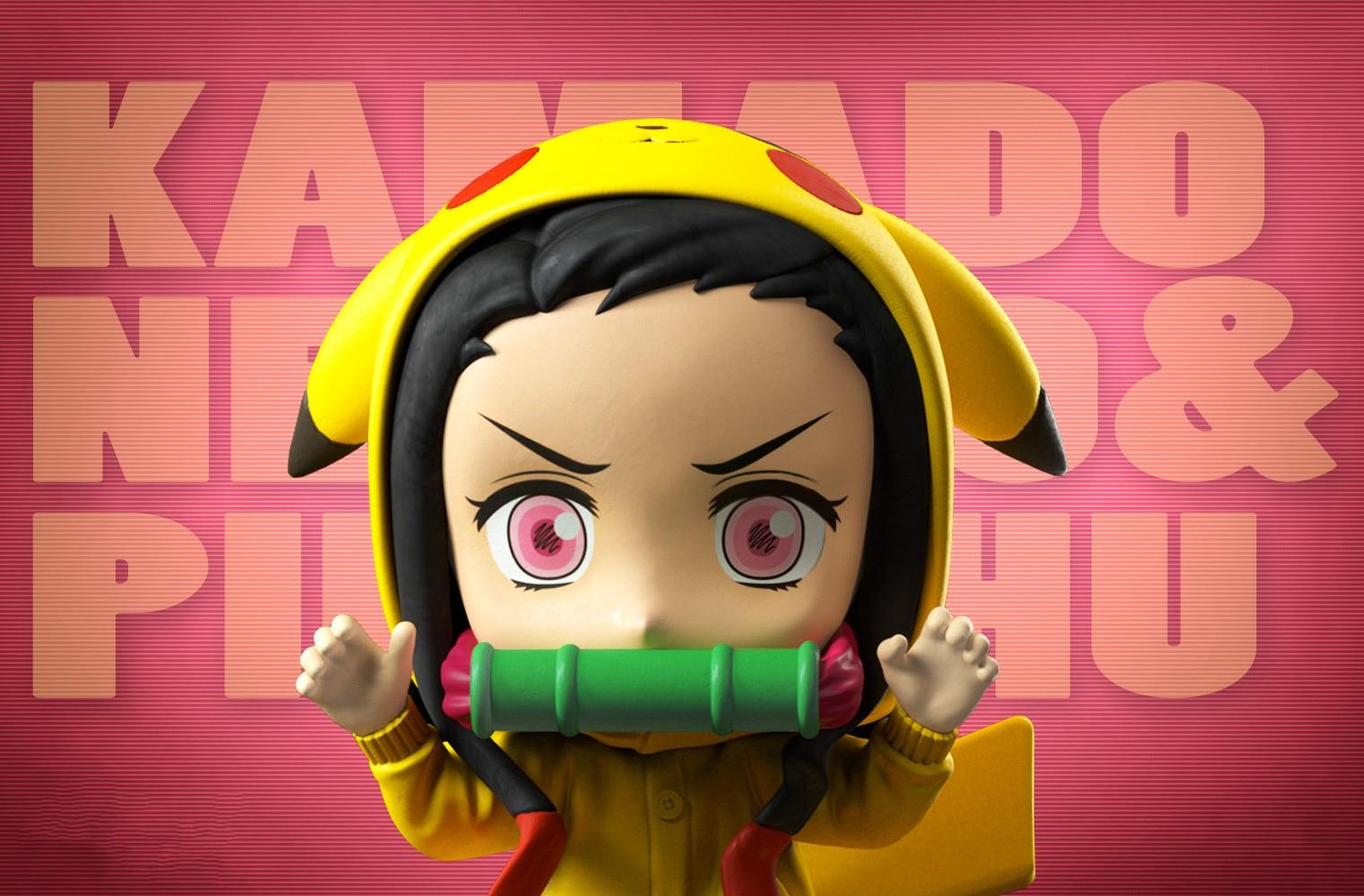 Anime figura demônio assassino kimetsu não yaiba kamado nezuko brinquedos bonitos para crianças collectible modelo pvc boneca