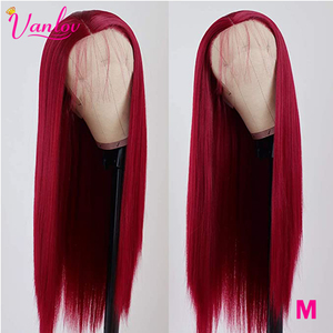 Vanlov Straight Lace Front Human Hair Wigs Brazilian 13X4 Remy Hair Colored Lace Front Wig Pre Plucked 150% Density For Woman