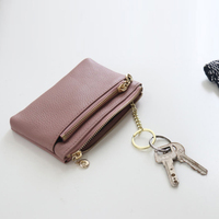 Wallets Girl Coin Purse Genuine Leather Pouch Hand Purses for Ladies Clemence Cowhide Keys Card Data Cable High Quality Portable