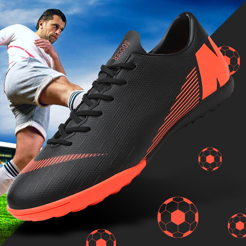 Football Shoes Men Turf Spikes Football Boy Women Outdoor Athletic Trainers Sneakers Adults Brand Professional Soccer Futbol|Soccer Shoes| |  - title=