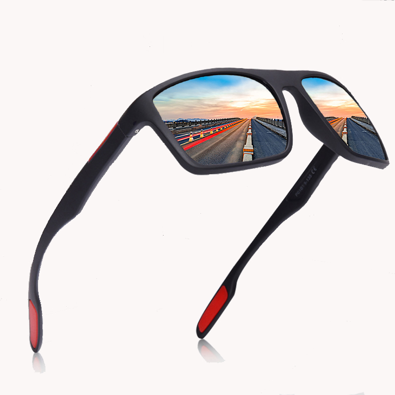 Black Polarized Sunglasses Men Driving/Sports Sunglasses Oval Polarized Shades For Men/Women UV400 EyeWear Male Female