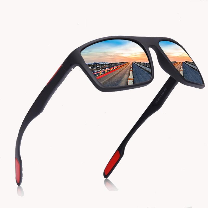 Black Polarized Sunglasses Men Driving/Sports Sunglasses Oval Polarized Shades For Men/Women UV400 EyeWear Male Female