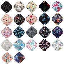 [Sigzagor] 60 Extra Small XS Panty Liners 7in Reusable Washable Bamboo CHARCOAL Menstrual Sanitary Mama Cloth Pads,13 Designs