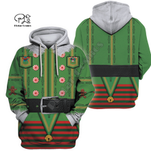Men Women Christmas Costumes Print 3D Hoodies cosplay Gift red green Sweatshirt t shirt zipper jacket pullover Funny Santa Claus