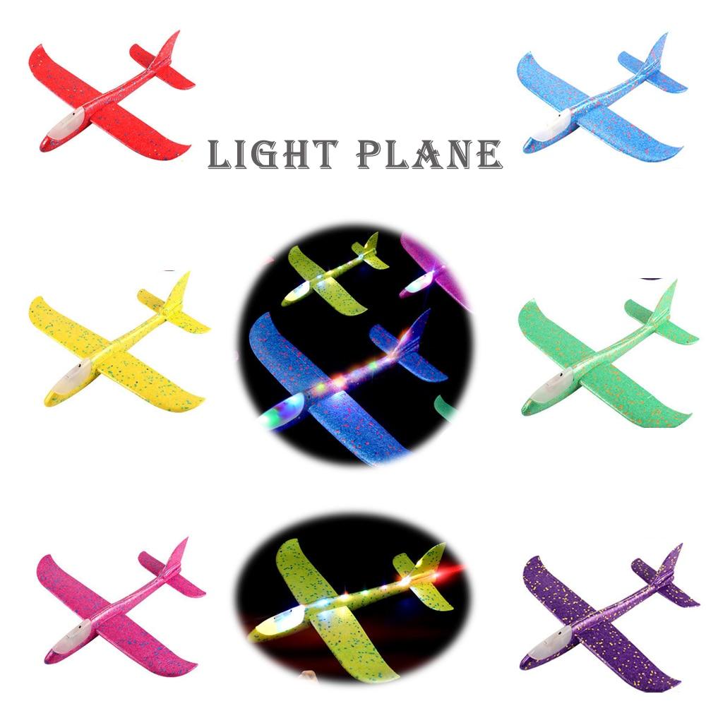 2020 nouveau Design enfants main jeter avion EPP mousse enfants jouets éducatifs Flash avion lumineux 1