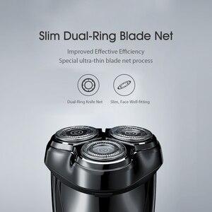 Image 4 - Enchen Blackstone 3 Elektrische Scheerapparaat 3D Triple Drijvende Blade Hoofden Scheren Scheermessen Mannen Baard Trimmer Usb Oplaadbare IPX7