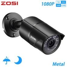 كاميرا مراقبة فيديو ZOSI 1080P CVBS AHD TVI CVI عالية الدقة 2.0 ميجابكسل مانعة لتسرب الماء و100ft كاميرا مراقبة منزلية CCTV ليلية