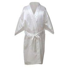 Летнее кимоно Банный халат подружки невесты платье для девочек халат для детей атласный детский Шелковый Детская ночная рубашка однотонные халаты