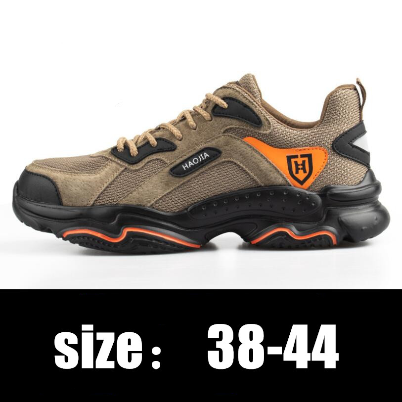 Men Steel Toe Outdoor Safety Work Shoes Lightweight Breathable Anti-smashing Anti-piercing Non-Slip Protective Footwear CS549