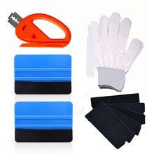 FOSHIO Carbon Fiber Car Wrap Werkzeuge Vinyl Wrapping Rakel Schaber Folie Film Aufkleber Cutter Handschuhe Fenster Tönung Auto Reinigung Werkzeug
