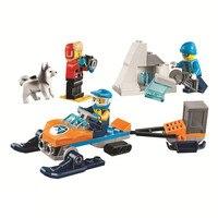 88PCS Creator City Building Blocks Arctic Snow police Supply Model Technic Bricks Figures DIY Toys for Children
