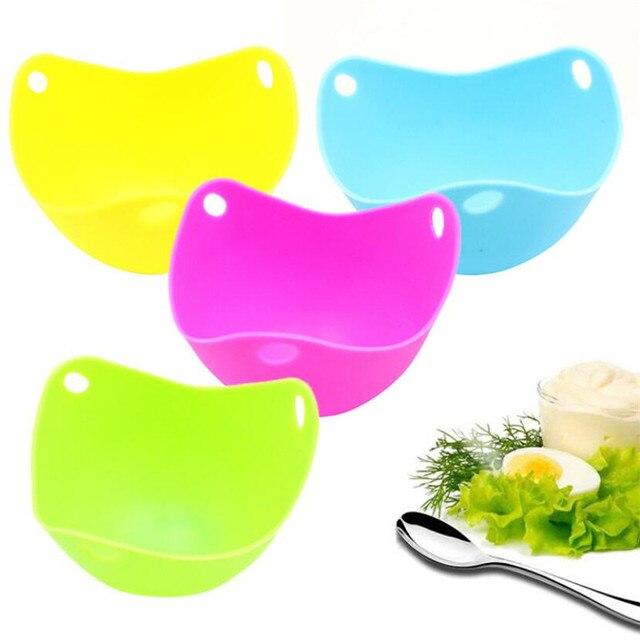 4 sztuk/partia silikonowe jajko kłusownik kłusownictwo Pan formy jaj formy miska pierścienie kuchenka kocioł kuchnia gotowanie narzędzia akcesoria gadżet