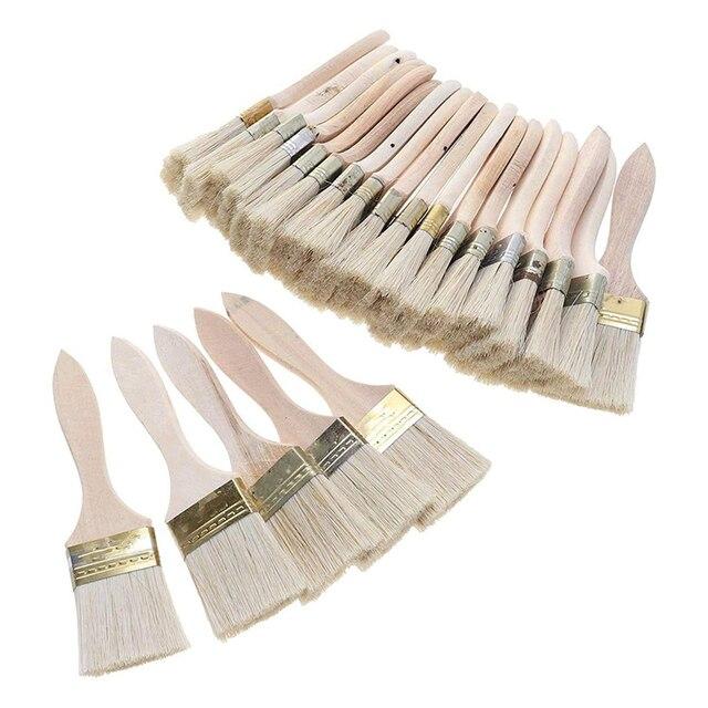 Lot de 24 pinceaux et pinceaux à copeaux de 2 pouces (48mm) pour les taches de peinture vernis colles et Gesso