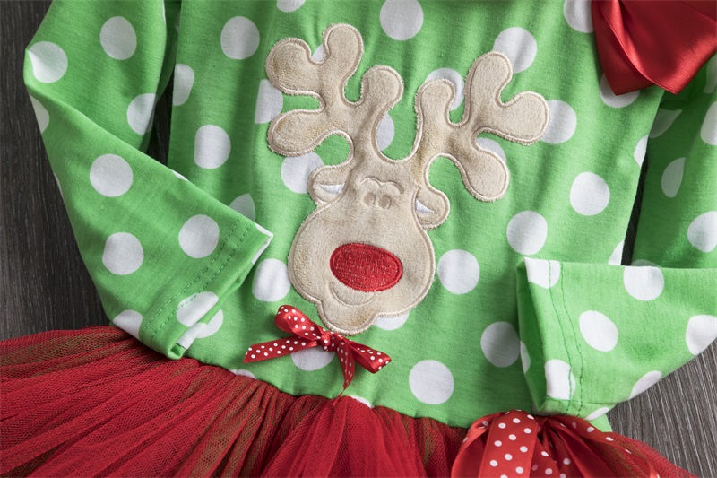 H598efe76ed2c4e48ac8ca834d4737bb23 2-6T Santa Claus Christmas Dress Kids Party New Year Costume Winter Snowman Baby Girl Clothes Christmas Tree Children Clothing