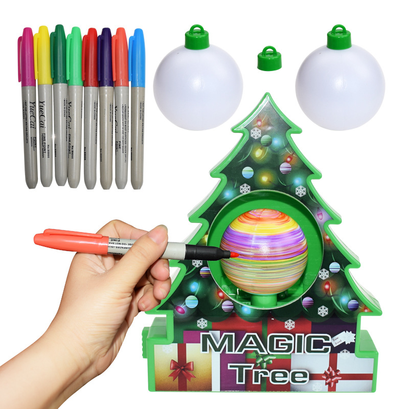 Image 2 - DIY Kids Drawing Toys Christmas Tree Decoration Balls Educational Craft Toy Set Home Decor Ornaments Egg Children Gifts-in Craft Toys from Toys & Hobbies