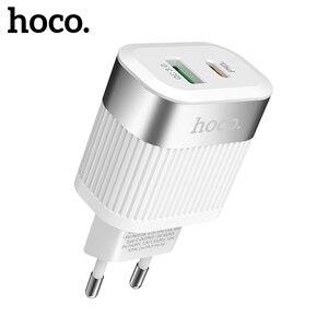 Image 3 - HOCO PD QC3.0 USB Schnelle Telefon Ladegerät 18W Quick Charge 3,0 EU UNS Stecker Wand USB Ladegerät Adapter Volle vereinbarung für iPhone Samsung