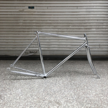 700C bicicleta engranaje fixie bicicleta marco plateado vintage fixe de bicicleta 52cm de velocidad única bicicleta marco de acero con el tenedor