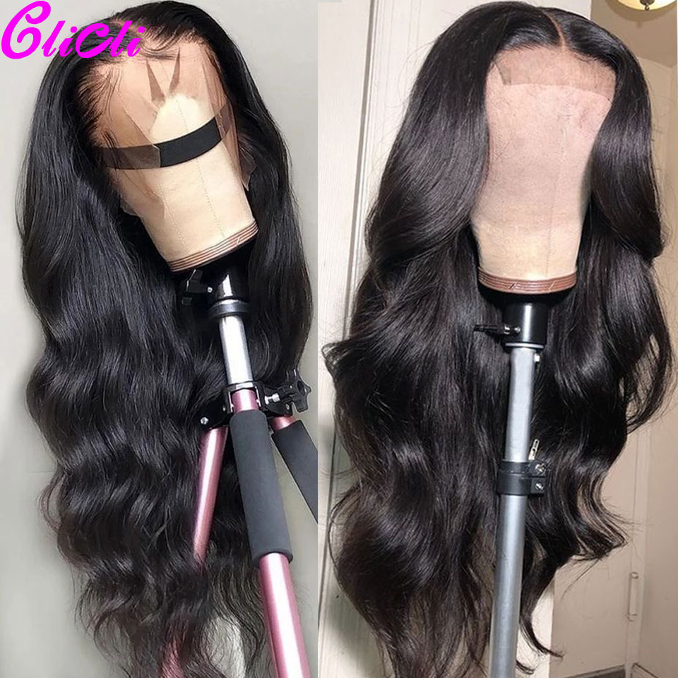 13x4 Transparent Lace Front Human Hair Wigs Remy Pre Plucked Glueless 360 Lace Frontal Wigs 13x6 Brazilian Body Wave Wig 150