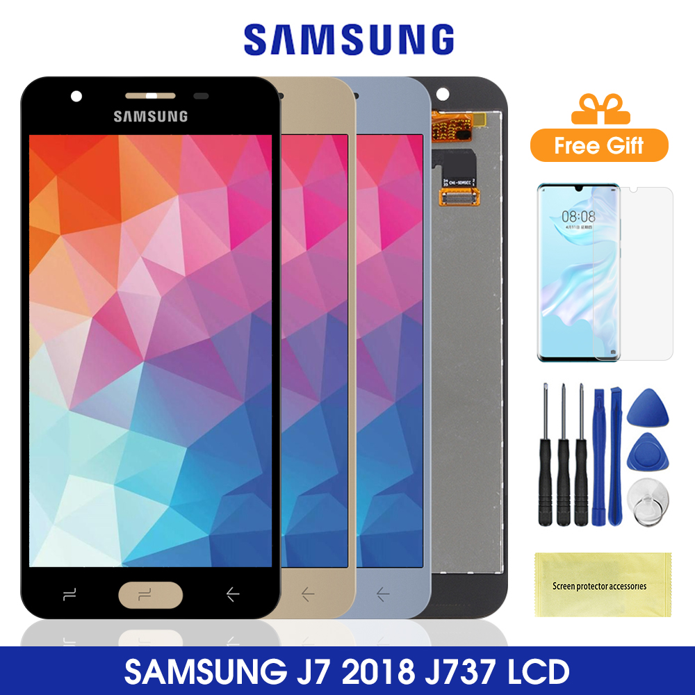 J737 Lcd For <font><b>Samsung</b></font> <font><b>Galaxy</b></font> <font><b>J7</b></font> <font><b>2018</b></font> LCD <font><b>Display</b></font> With Touch Screen Digitizer Assesmbly For <font><b>Samsung</b></font> J737 J737A J737P J737V J737T image