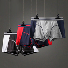 Modal Fast Dry Men #8217 s Sports Boxers Soft Cotton Breathable Men #8217 s Underwear Pants Underpants Fashion Male U convex Pouch Men Boxer cheap Boxer Shorts #0725 Patchwork spandex