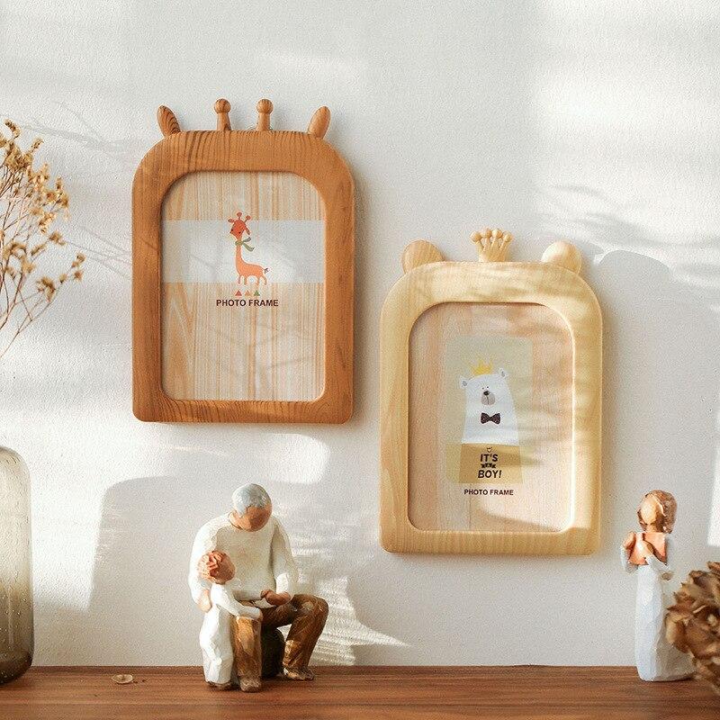 7.7US $ 40% OFF Quality Vintage Photo Frame Home Decor Retro Wooden Children Cartoon Recommendation ...