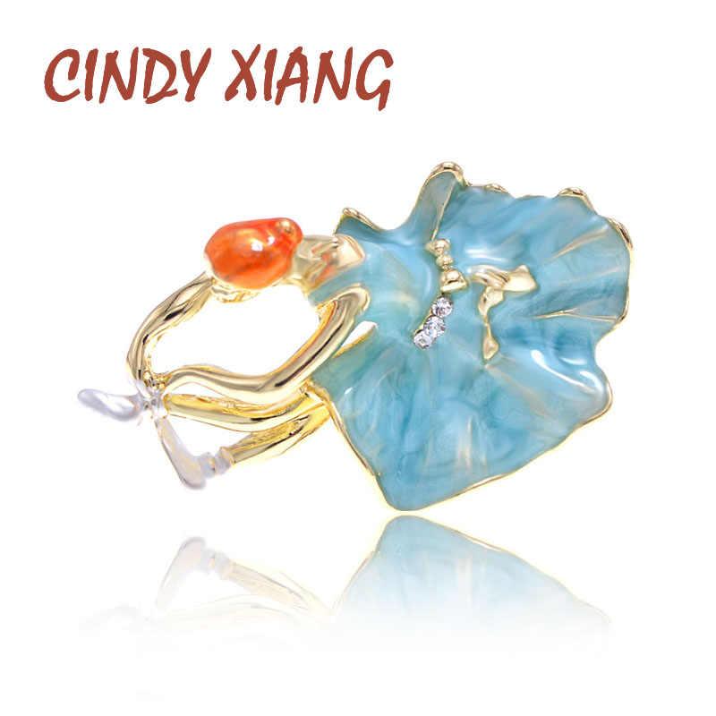 Cindy Xiang Balet Gadis Bros Enamel Fashion Gaya Manusia Desain Pin 4 Warna Tersedia Bros Pernikahan Perhiasan Hadiah Yang Bagus