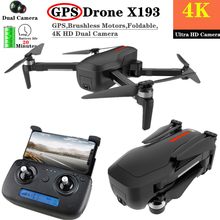 X193 RC Drone 4K GPS Drones with Ultra Clear Camera Brushless Gesture Selfie Foldable Quadcopter 5G WIFI VS F11