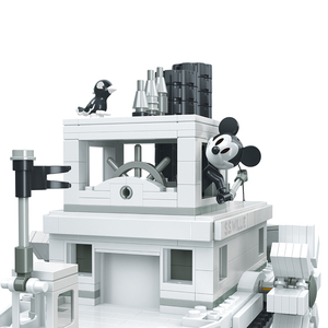 Image 5 - 842PCS Small Building Blocks Toys Compatible Lepinging Mickey Minnie Steamboat Willie Gift for girls boys children DIY