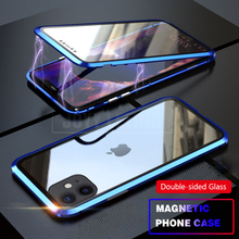 For iPhone 11 Pro Max Cover 360 Magnetic case Case Shockproof Armor Full Protective Phone