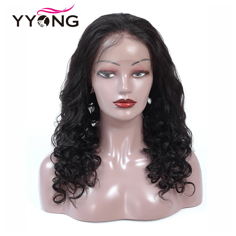 Yyong Hair Pre Plucked Full Lace Human Wigs With Baby Loose Deep Wave Brazilian Wig Glueless Remy