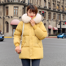 new Casual Warm Fashion Woman Short Winter Coats and Jackets Pockets Hooded Parka Feminina Solid Loose