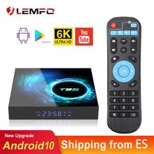 LEMFO T95 H616 Смарт ТВ приставка Android 10 4G 64GB Поддержка 6K 3D YouTube Google Play голосового помощника Google Andtoid 10,0 TV Box 2021
