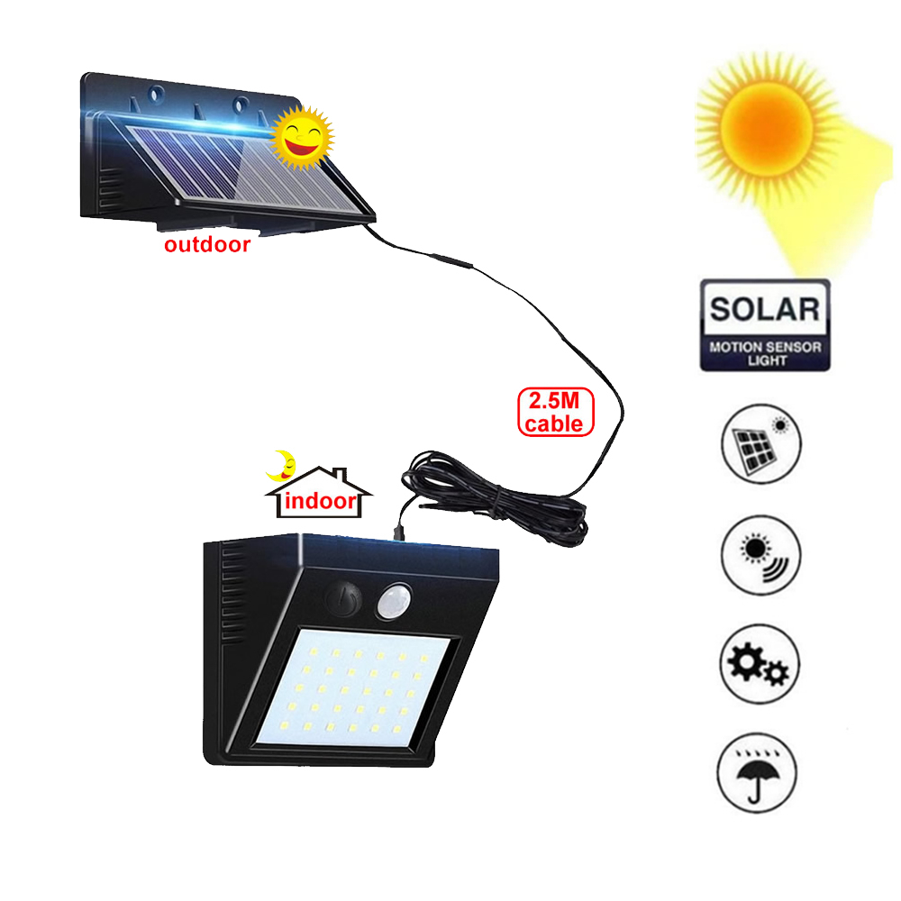 1/4 pces lâmpada solar ao ar livre luz led pir sensor de movimento led de energia solar parede rua jardim luz segurança spotlight à prova dwaterproof água dec