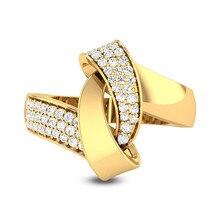 Anillos irregulares de circonio dorado para mujer, anillo de lazo geométrico, anillo Vintage a la moda para mujer, plato de joyería para mujer, anillos de plata para fiesta