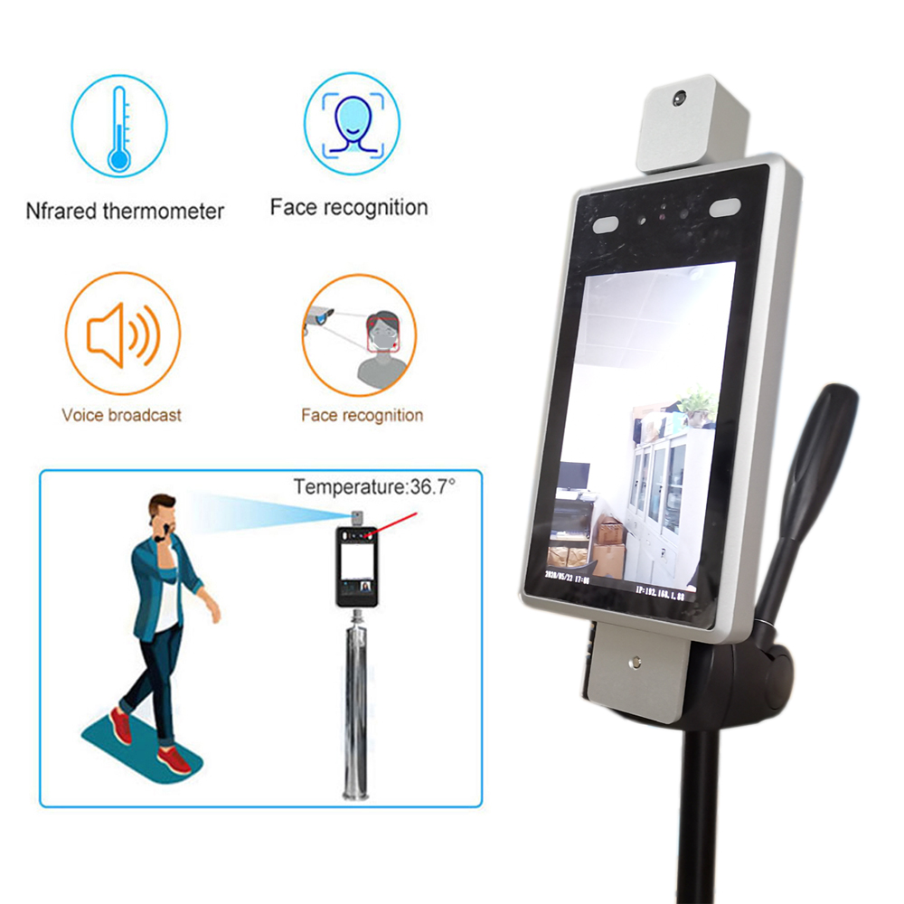 Body Temperature Camera Facial Recognition 2MP Termal Ip Camera Thermal Human Detect Access Control Face Recognize To USA