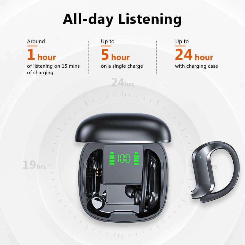 TWS auriculares Bluetooth 5,0 auriculares inalámbricos Bluetooth Cancelación de ruido 9D estéreo HiFi auriculares deportivos manos libres con micrófono