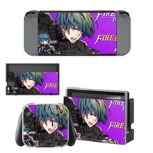 Fire Emblem Decal Nintendo Switch NS Console + Joy-Con Controller + Dock Station Protective Skin