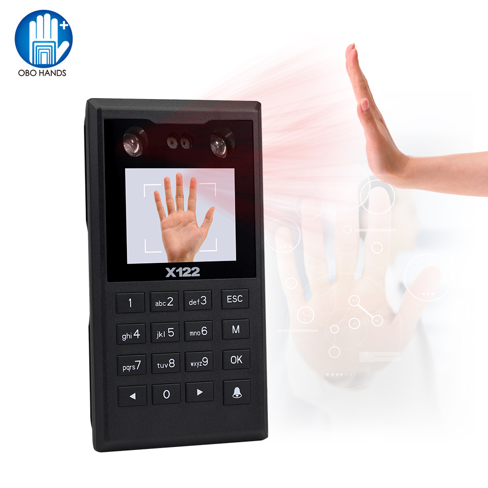 OBO TCP/IP Intelligent Fingerprint Face Access Control Keypad Biometrics Password Palm Print Recognition Time Attendance Machine