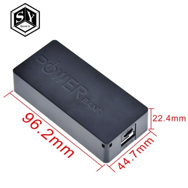 2X18650 USB batterie externe étui 18650 chargeur de batterie bricolage boîte Shell Kit noir pour smartphone MP3 électronique Mobile charge