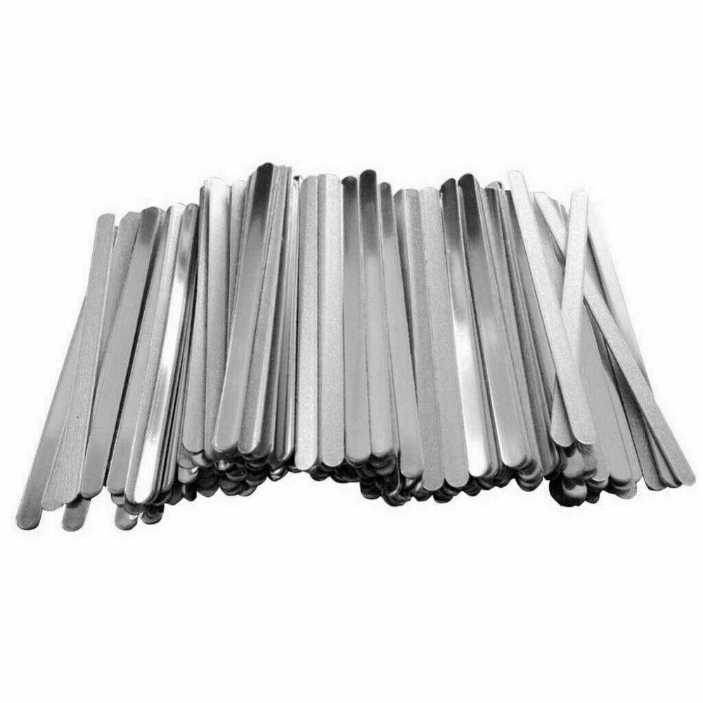 Details about  /100pcs//Pack 9cm//3.54 Aluminum Strips Straps DIY Nose Bridge Clip Strips New