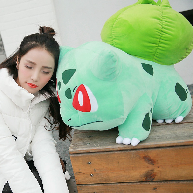 55CM Large Size Animals Bulbasaur Plush Toy Small Soft Toys Sleeping Pillow Doll For Kid Birthday Gifts